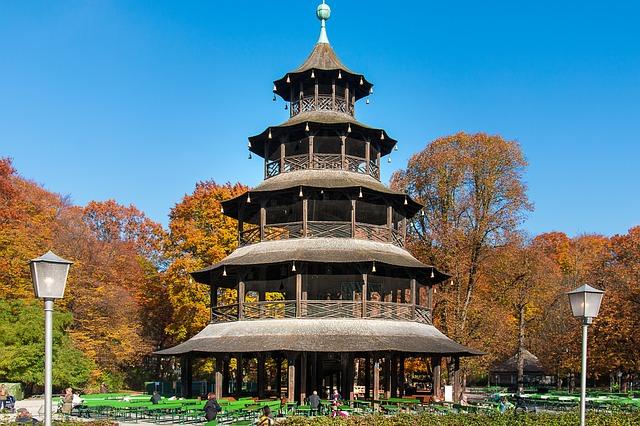 Chinese Turm in de Englische Garten in München